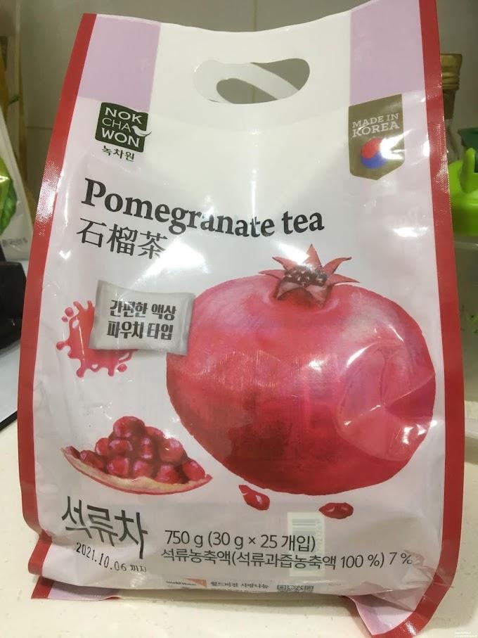 開箱-韓國石榴茶,冷飲為佳還能調酒