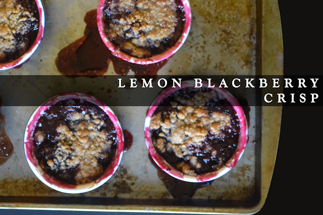 lemon blackberry crisp