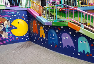 Pac-Man graffiti in Luton