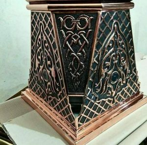ornamen masjid - model  nabawi - kerajinan tembaga dan kuningan