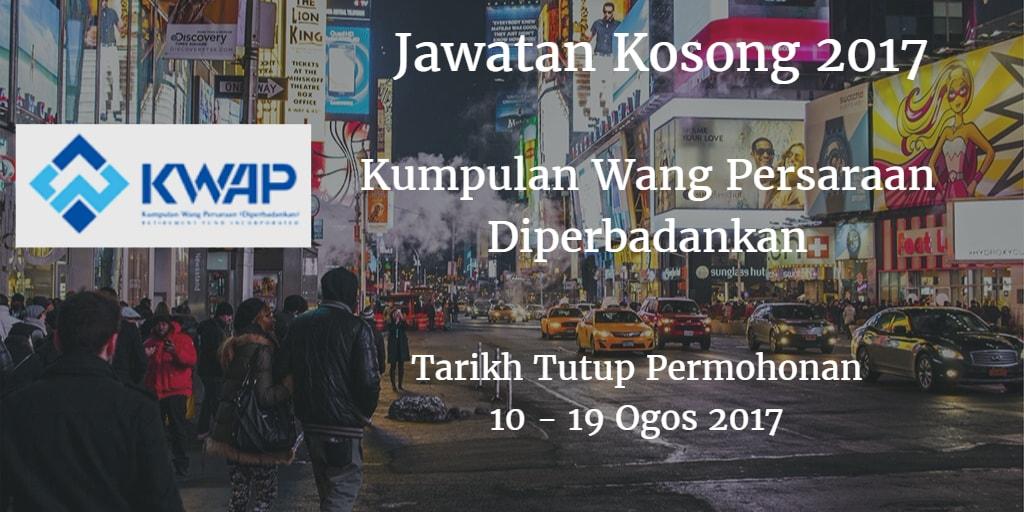 Jawatan Kosong KWAP 10 - 19 Ogos 2017