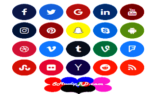যে ভাবে Rounded Social Icon Design করব।
