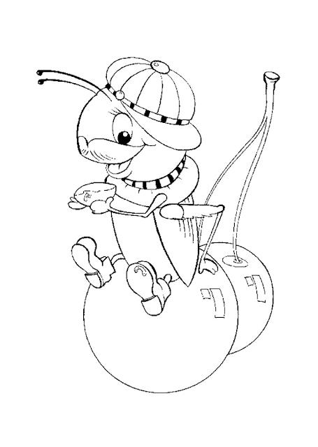 Gambar Mewarnai Semut - 19