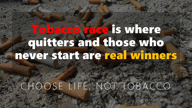 Tobacco race where quitters and non-runners are the real winners