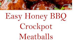 Easy Honey BBQ Crockpot Meatballs