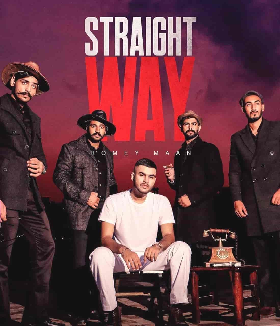 Straight Way Punjabi Song Image Features Romey Maan & Team