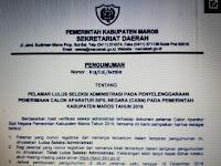 Daftar Nama Pelamar Calon ASN Lulus Seleksi Administrasi Pada Penerimaan CASN Pemkab. Maros Tahun 2019