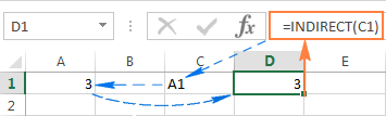 INDIRECT formulas with A1 and R1C1 references