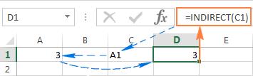 Cách sử dụng hàm INDIRECT trong EXCEL, công thức và ví dụ minh hoạ