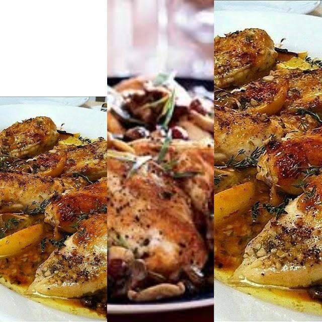 دجاج في الفرن بالزعتر مذاق رهيب