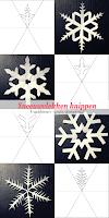 Sneeuwvlokken knippen - 4 sjablonen - gratis download