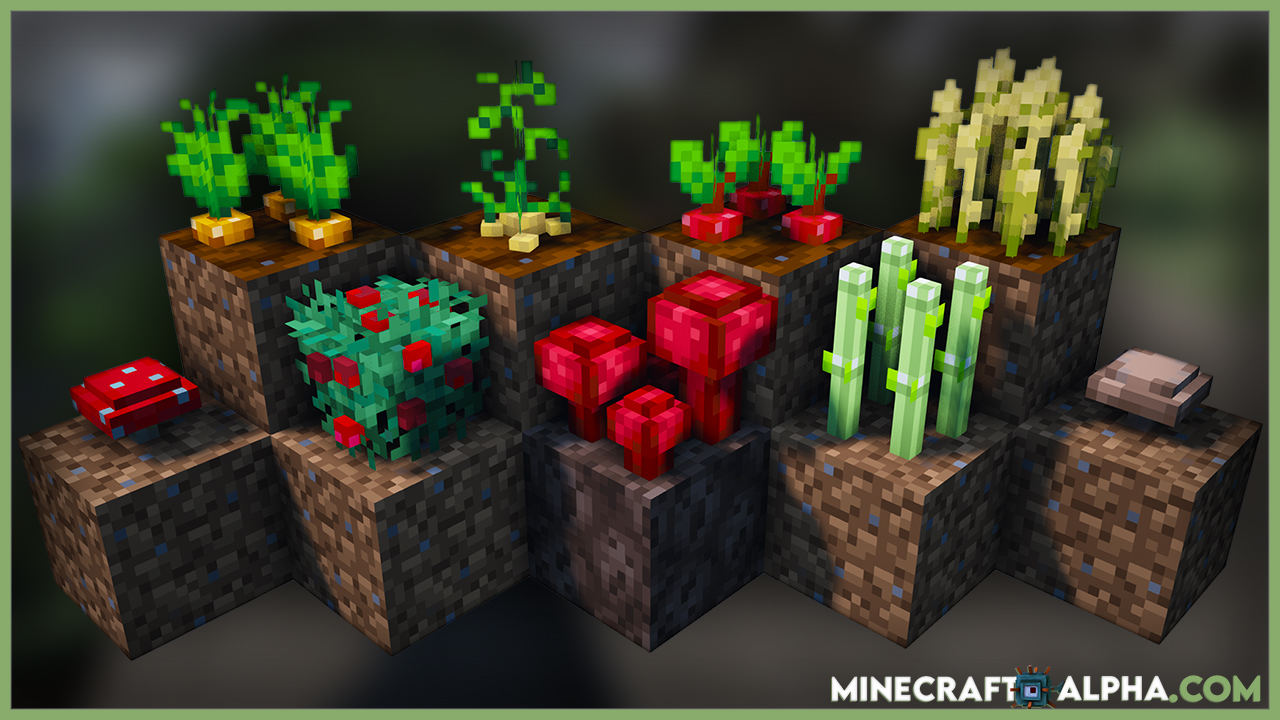 Crops 3D Resource Pack 1.17.1 (Realistic 3D Seeds)
