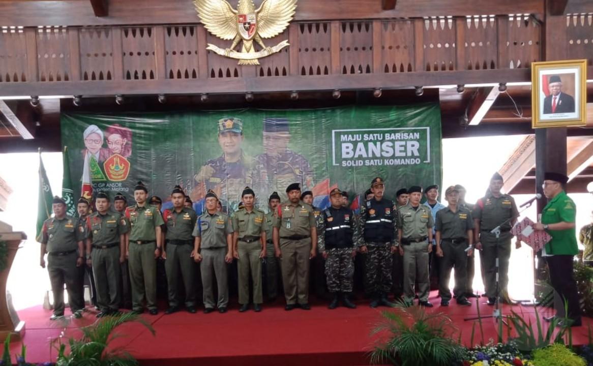 Solid Satu Komando, Ketua GP Ansor Kabupaten Malang Kukuhkan Jajaran Satkorcab Banser