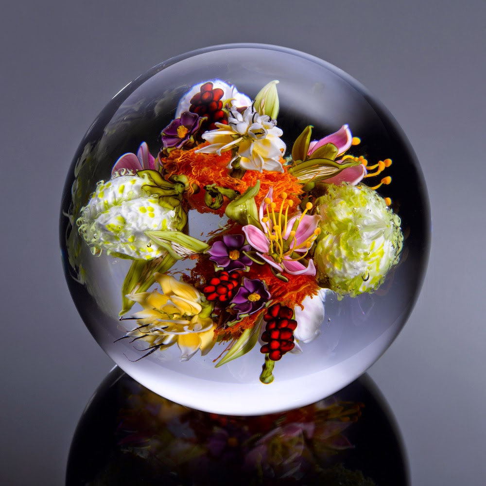 07-Flowers-and-Fuzzy-Fruit-Series-Paul-J-Stankard-Nature-in-a-Sculptured-Glass-Orb-www-designstack-co