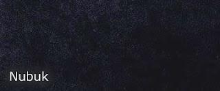 Kunstledermusterkarte Nubuk