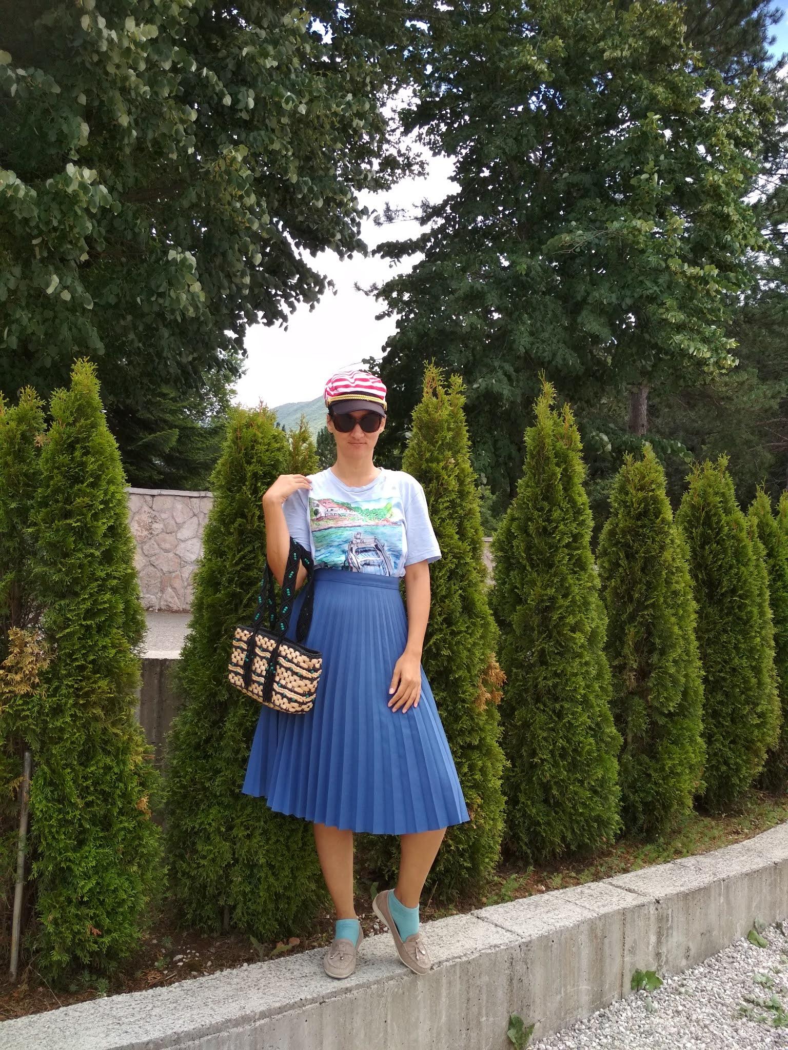 #modaodaradosti #bluepleatedskirt #pleatedskirt