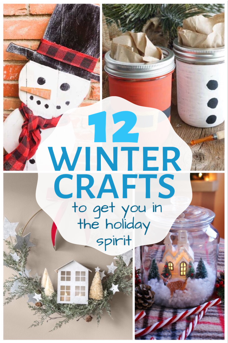 12 winter crafts pin
