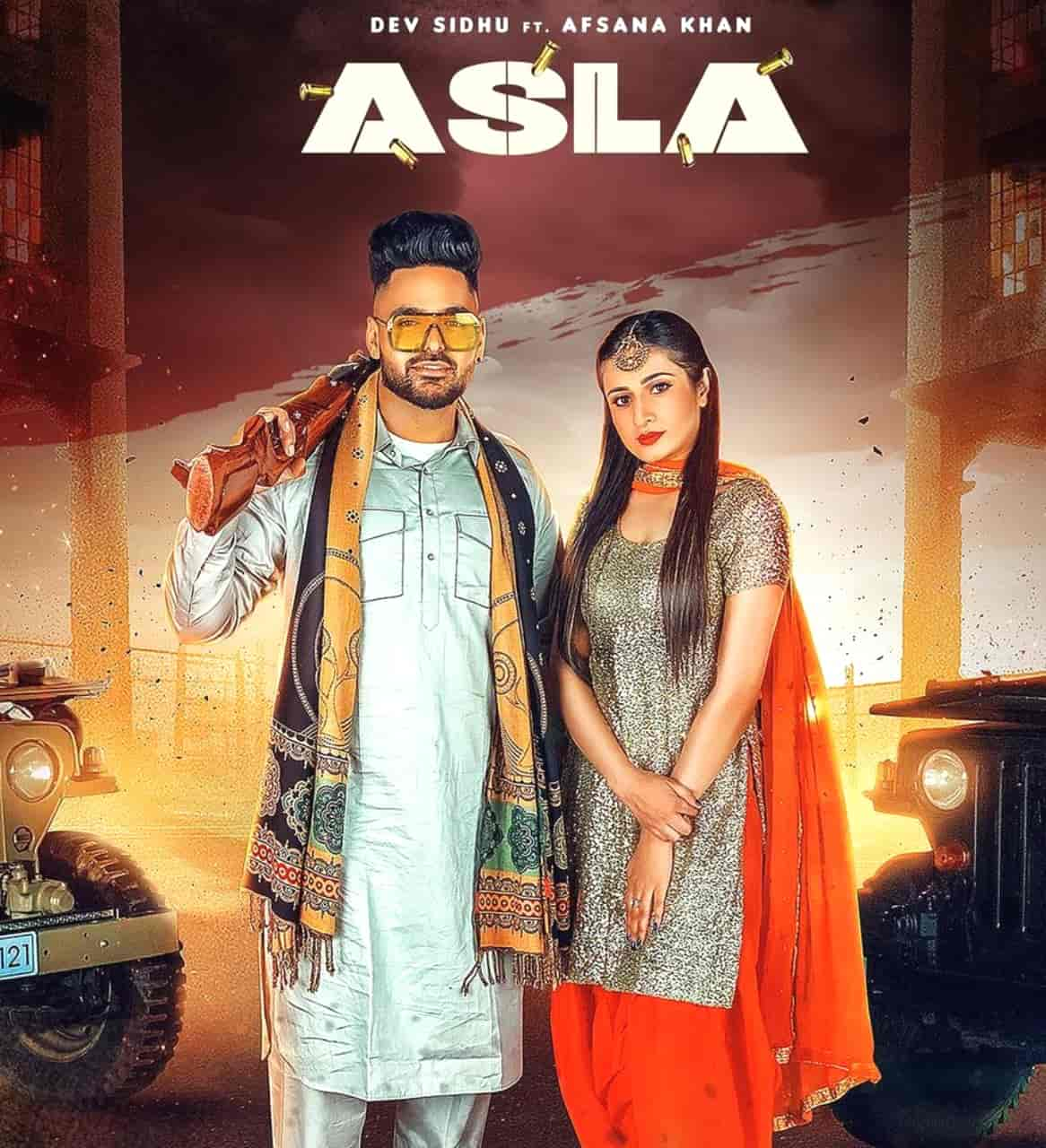 Asla Punjabi Song Image Features Dev Sidhu and Afsana Khan