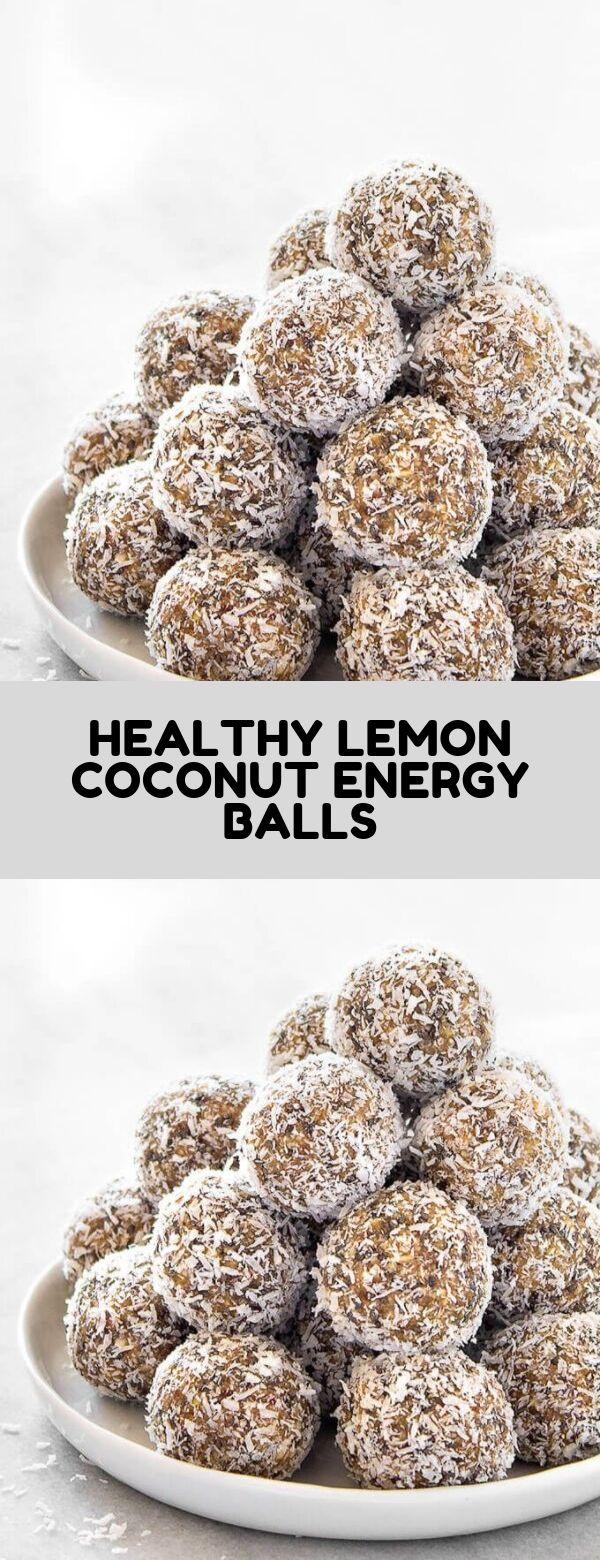 HEALTHY LEMON COCONUT ENERGY BALLS #snack