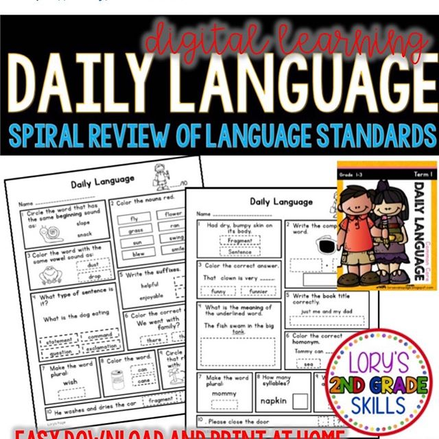 Daily Language Arts Review