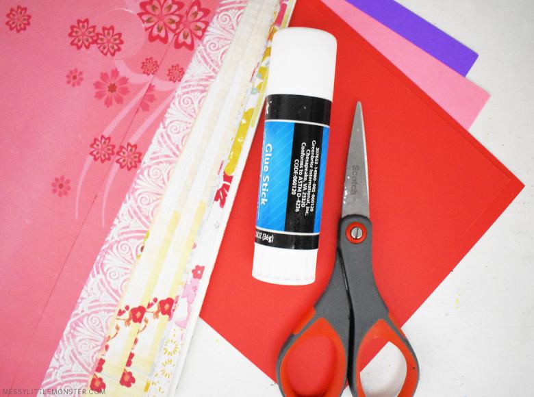 paper strip heart craft supplies