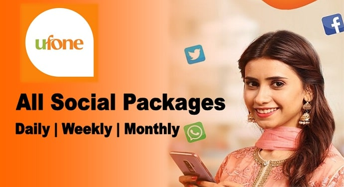 Ufone all social packages: daily, weekly, monthly