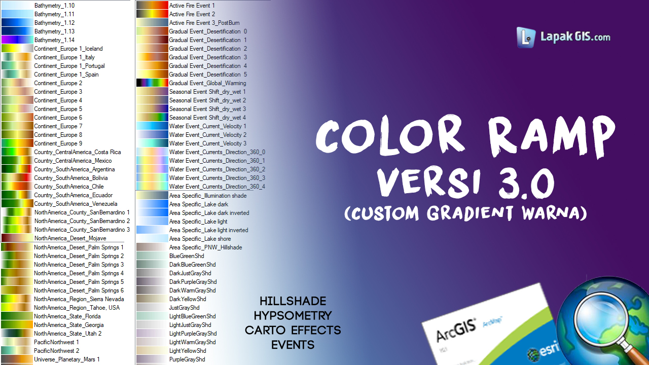 Custom Color Ramp Versi 3.0 pada ArcGIS
