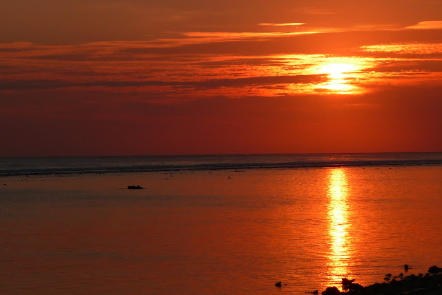 Beautiful sunset at Gili Trawangan Indonesia