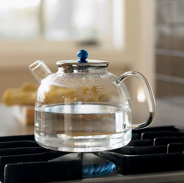 Heatproof glass tea kettle