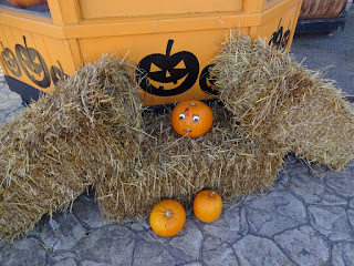 Last year we visited Southport Pleasureland - it was full of pumpkins!