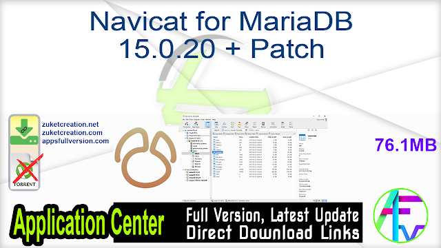 Navicat for MariaDB 15.0.20 + Patch