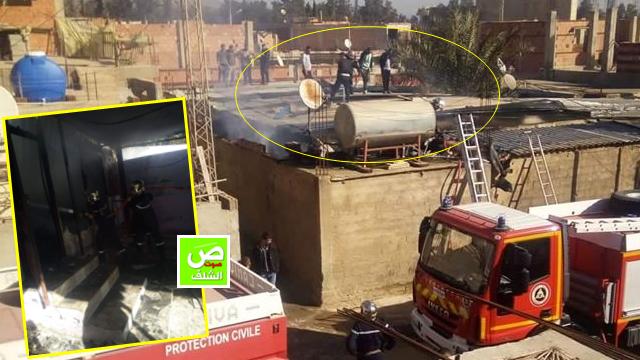 إندلاع حريق في سكن من البناء الجاهز بواد الفضة