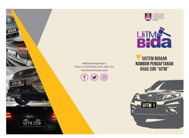 Jangan Lepas Peluang Untuk Bida No Plat Kenderaan 'UITM' Bermula 26 Ogos