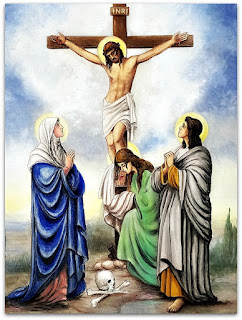 Pintura de Cristo Crucificado na Igreja Matriz Santo Antônio de Pádua - Silveira Martins (RS)
