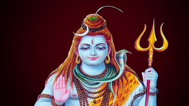Best God Shiva HD Wallpaper In Red Background