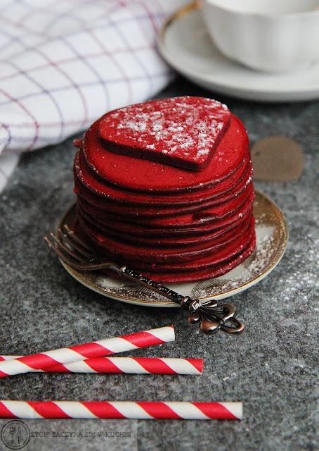 Walentynkowe placuszki z cukrem pudrem