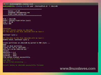 Creating Multiboot USB Drive on Linux