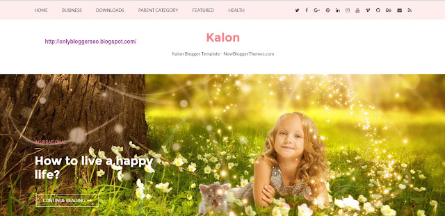 Kalon Responsive Blogger template free download