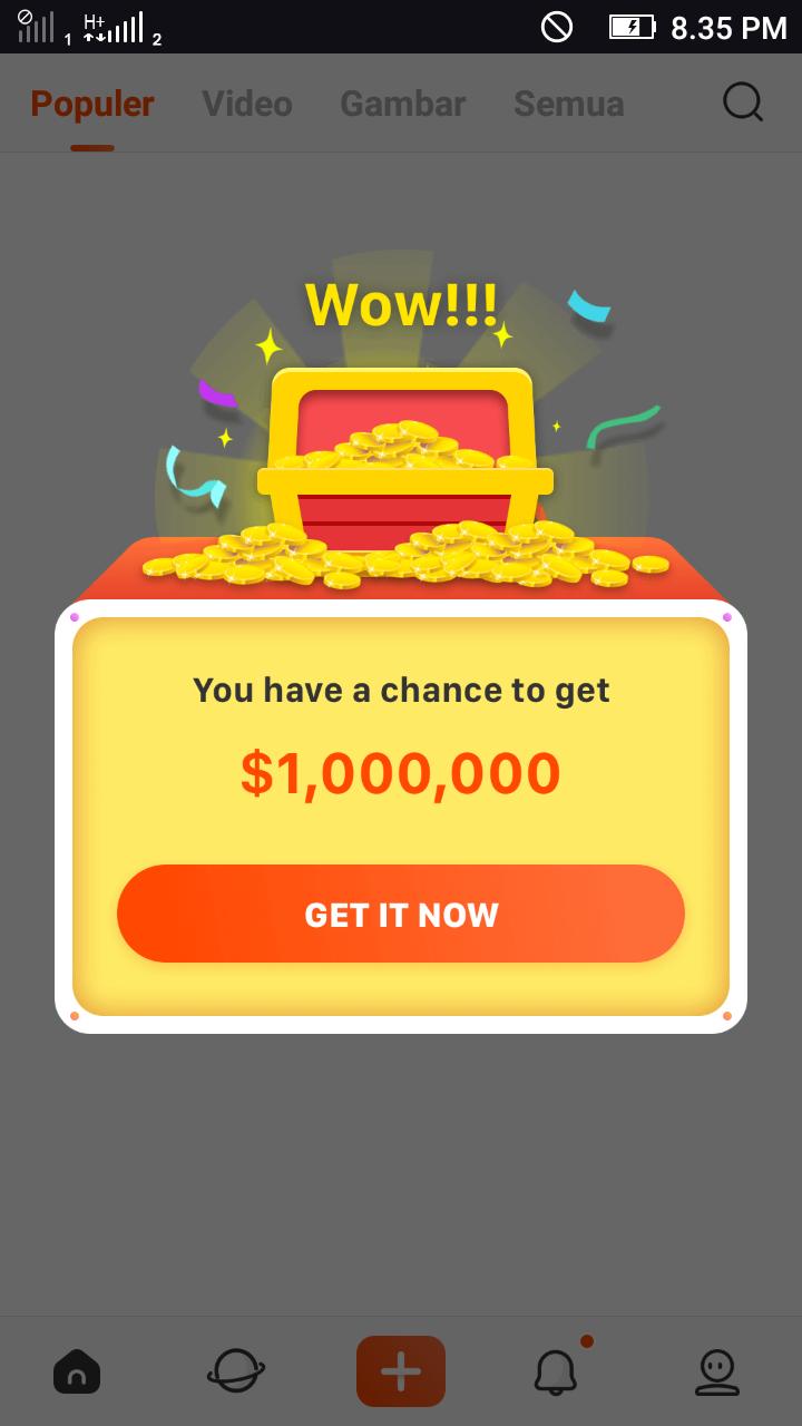 Mendapatkan Dollar secara mudah dari aplikasi Hapo