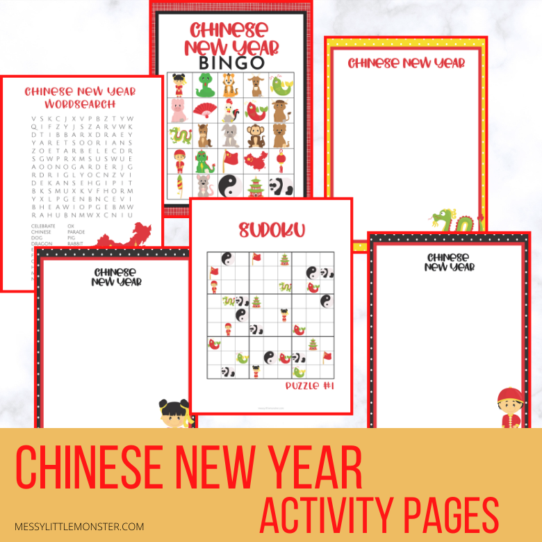 Chinese New Year activities and coloring pages