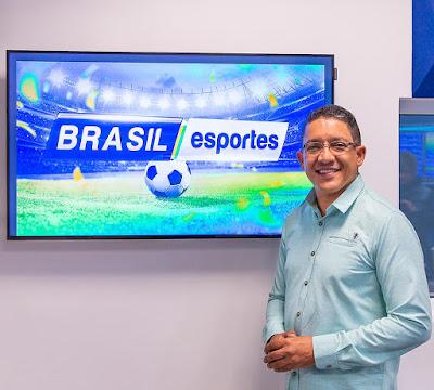 André Isac, apresentador do Brasil Esportes - Juan Ribeiro / Divulgação TV Aparecida
