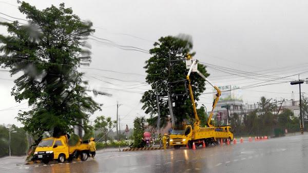 豪雨特報慎防致災性降雨 台電彰化區營業處嚴陣以待