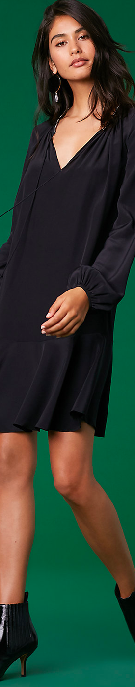 Diane Von Furstenberg Cinched Sleeve Keyhole Dress