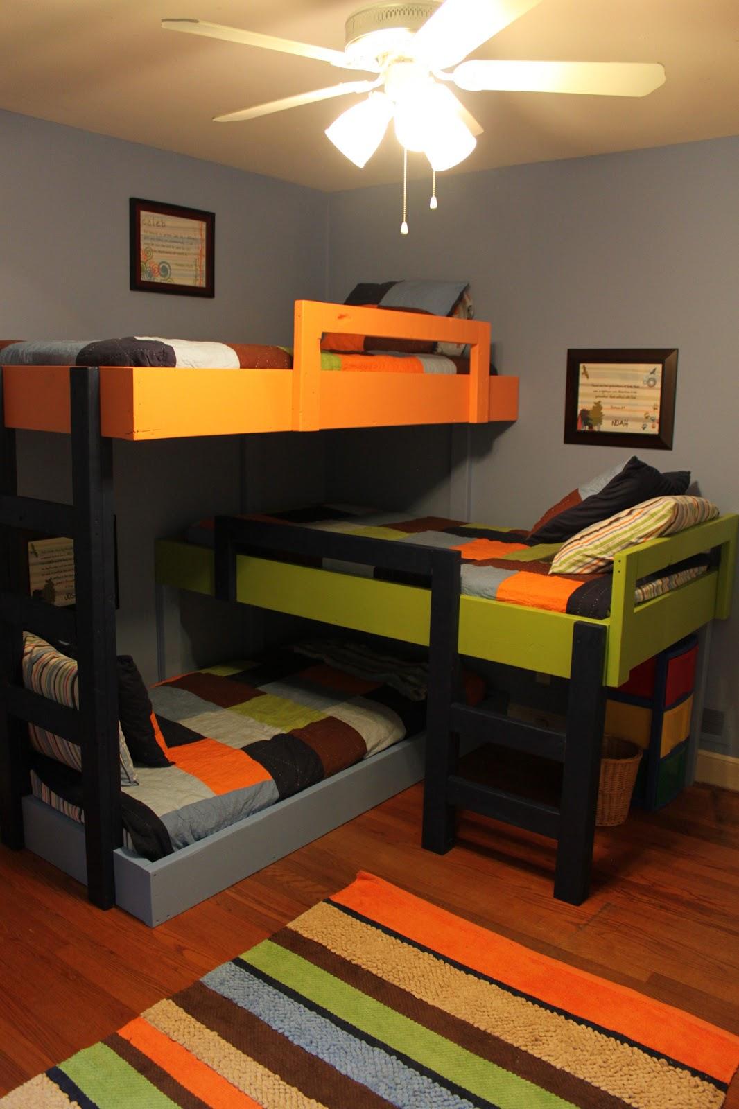 Custom Triple Bunk Beds