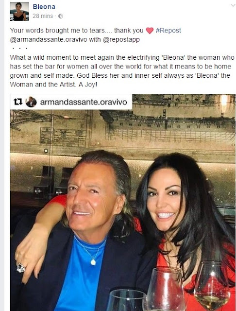 Armand Assante words brought Bleona Qereti to tears