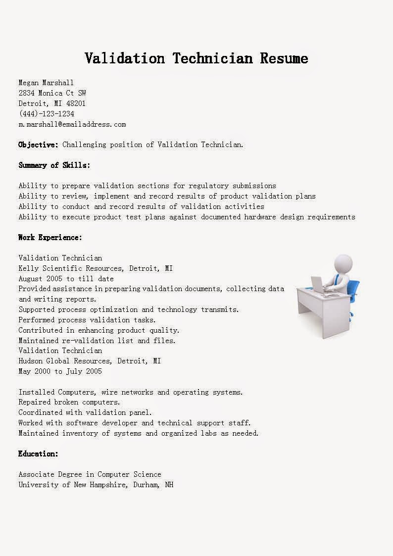 computer system validation sample resume from india