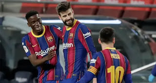 Barca players rating in Sevilla comeback with Pique 9.5, Dembele 8