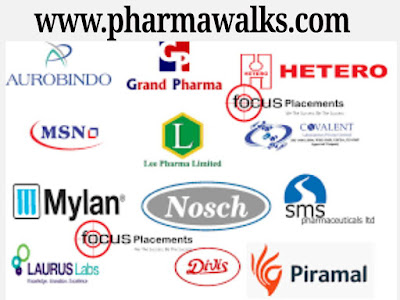 Top Pharmaceutical companies walk-in interviews on 20th October, 2019 (Sunday) for multiple positions