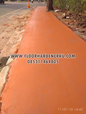 Proses Pengerjaan Trowel Floor Hardener Warna