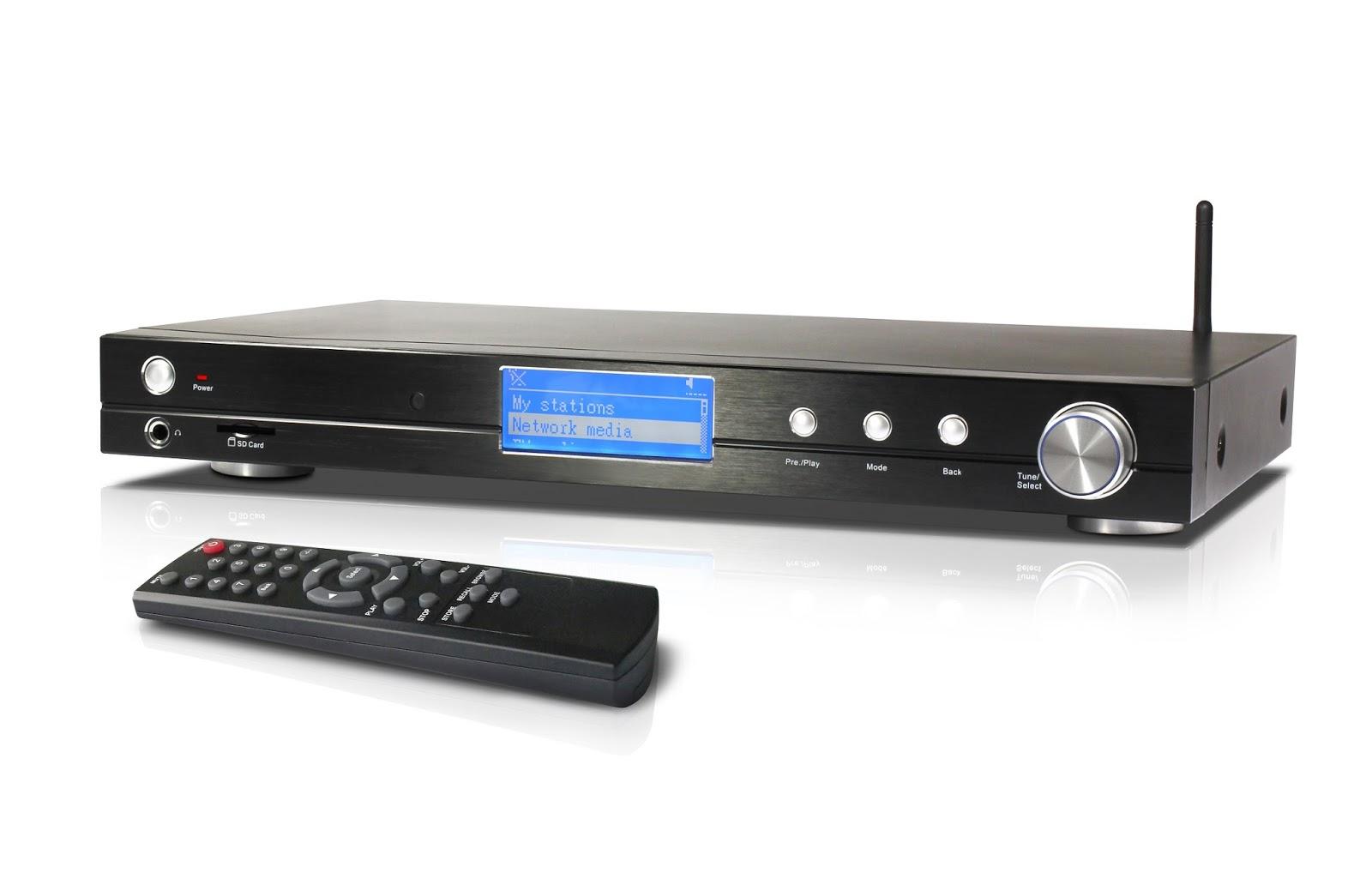 digital home audio music media player wireless network internet radio receiver hi fi dab fm. Black Bedroom Furniture Sets. Home Design Ideas